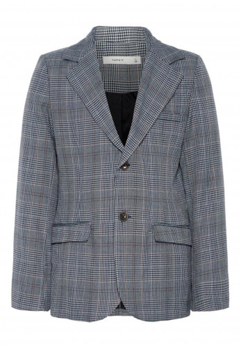 Name It Safran Check Blazer, Grey