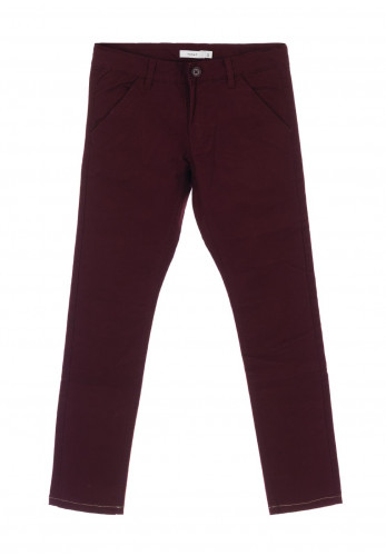 Name It Boys Robin Slim Leg Chinos, Wine