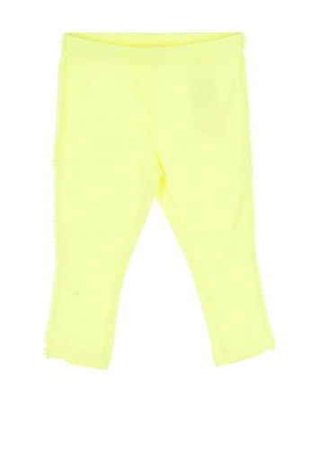Name It Mini Girls Derika Bobble Trim Leggings, Neon Lime