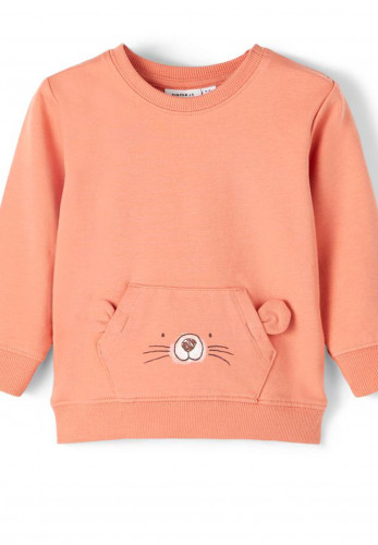 Name It Baby Boys Bisum Sweatshirt, Orange