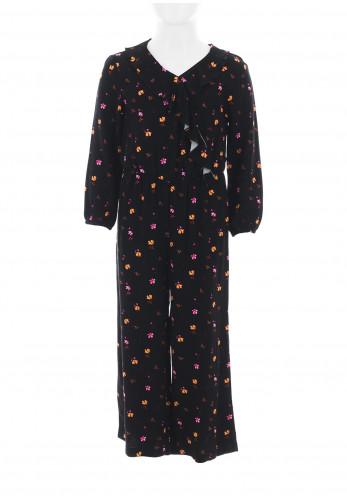 Name It Girls Fofie Floral Jumpsuit, Black