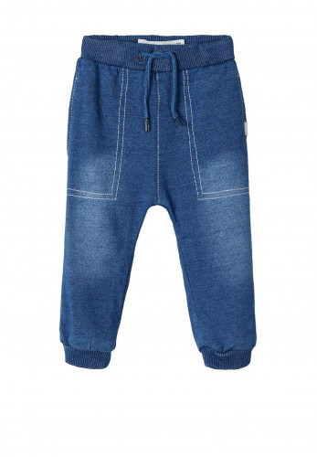 Name It Baby Boys Romeo Denim Style Sweatpants, Blue