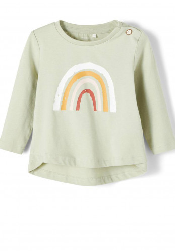 Name It Baby Girls Daisi Rainbow Top, Green