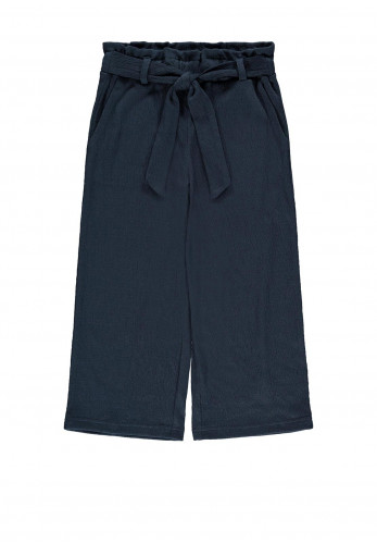 Name It Girls Donika 7/8 Wide Trousers, Navy