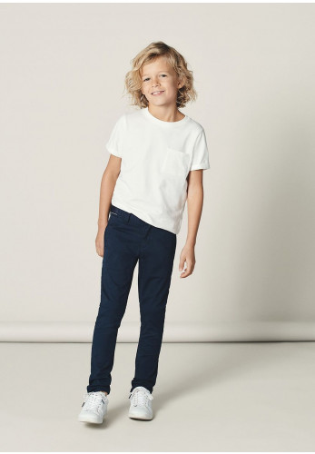 Name It Boys Msilas Chino Trousers, Navy