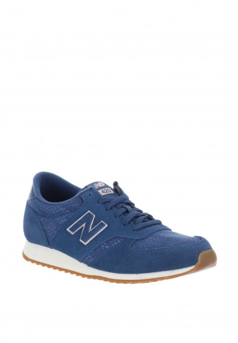 New Balance Womens 420 Suede Mix Trainers, Blue