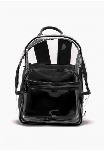Zen Collection Retro Clear Backpack, Black