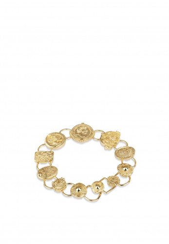 Newbridge Mixed Coin Bracelet, Gold