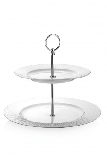 Newbridge Whiteware 2 Plate Cake Stand White