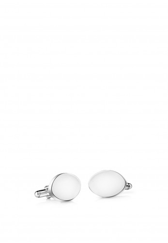 Newbridge Silverplate Oval Cufflinks, Silver