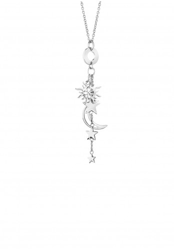 Newbridge Charm Necklace, Silver