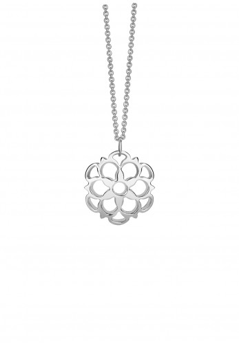 Newbridge Floral Charm Necklace, Silver