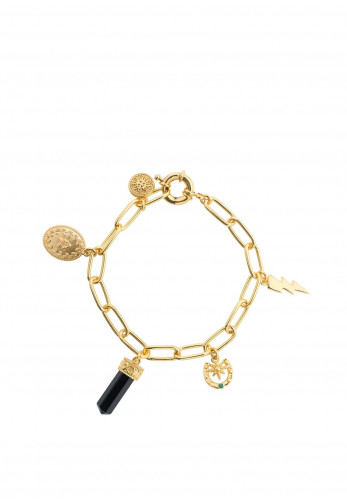 Newbridge Gold Plated Charm Bracelet
