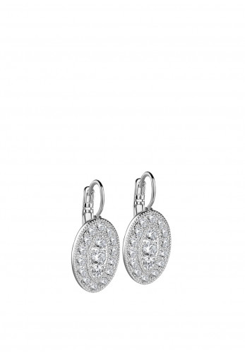 Newbridge Oval Earrings with Clear Stones