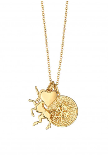 Newbridge Amy Unicorn Charm Necklace, Gold