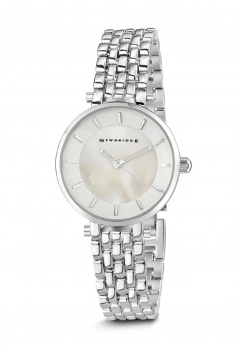 Newbridge Ladies Silverplated Watch with White Face, Silver