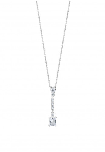 Newbridge Square Drop Pendant with Clear Stones