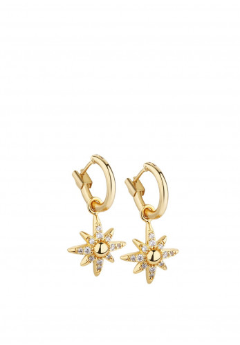 Newbridge Star Earrings with Clear Stones
