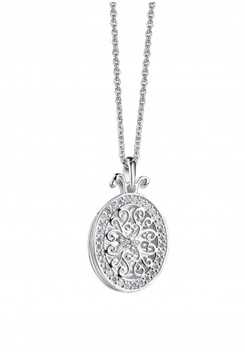 Newbridge Triple Pendant Locket, Silver