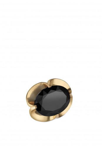 Newbridge Vintage Stone Setting Brooch, Black & Gold