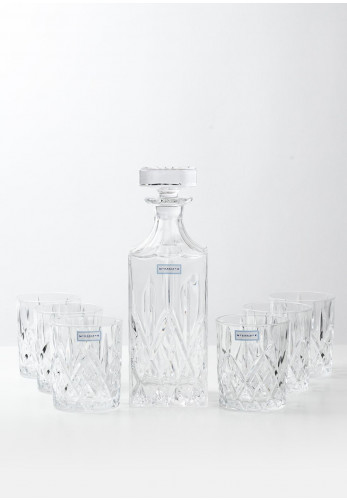 Newbridge Whiskey Decanter with 6 Whiskey Glasses