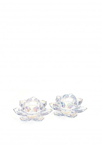 Newgrange Living Unicorn Lustre Lotus Tealight Pair