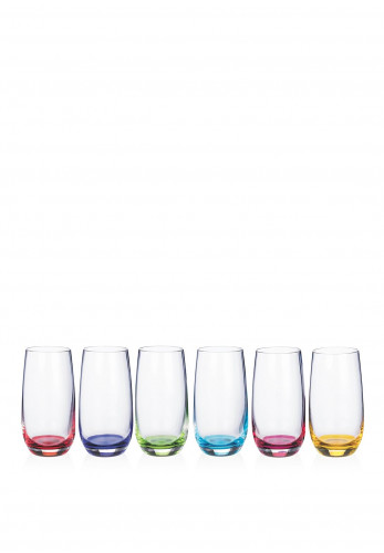 Newgrange Living Set of 6 Rainbow Hi-Ball Glasses