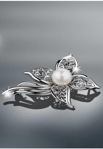 Newbridge Princess Grace Collection Vintage Brooch, Pearl