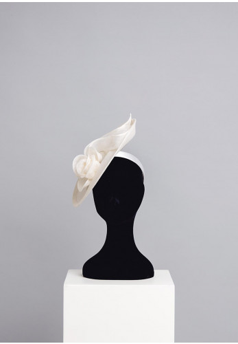 Gigi Headwear Medium Floral Fascinator, Ivory