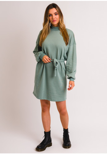 Noisy May Aliah Belted Sweater Dress, Duck Egg
