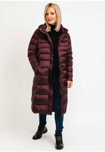 Normann Down Filled Padded Long Coat, Wine