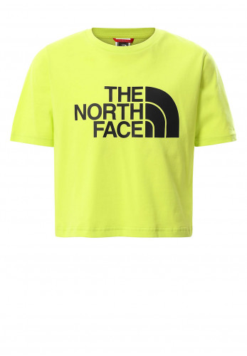 The North Face Girls Cropped T-Shirt, Spring Green