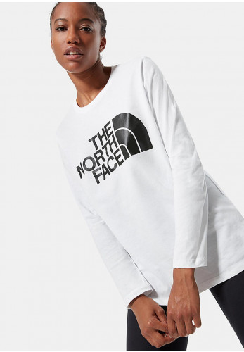 The North Face Womens Long Sleeve T-Shirt, White