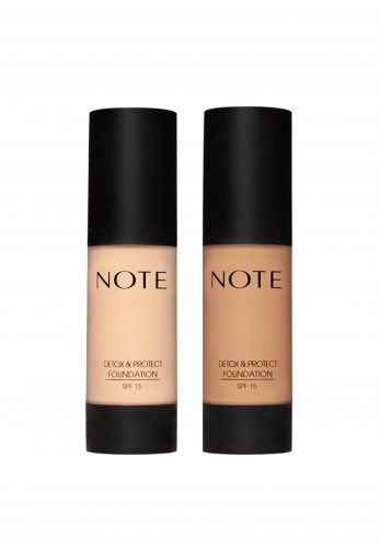 Detox & Protect Liquid Foundation 2 Piece Set, 01 Beige & 07 Apricot
