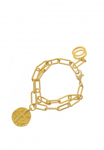 Nour London Double Layered Bracelet, Gold