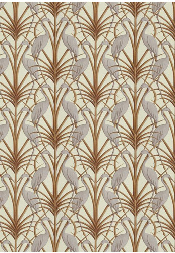 The Chateau Nouveau Heron Wallpaper, Cream