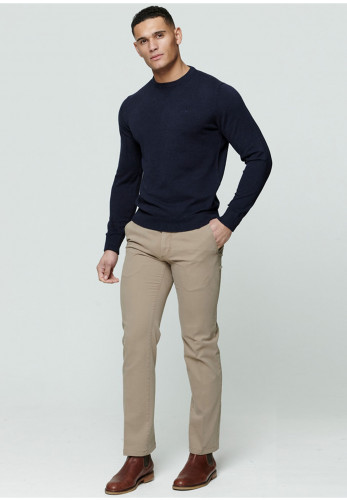 Magee 1866 Carn Knitted Round Neck Sweater, Navy