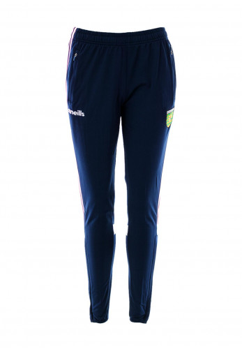 O'Neills Donegal GAA Womens Portland Brushed Skinny Tracksuit Bottoms, Navy Multi