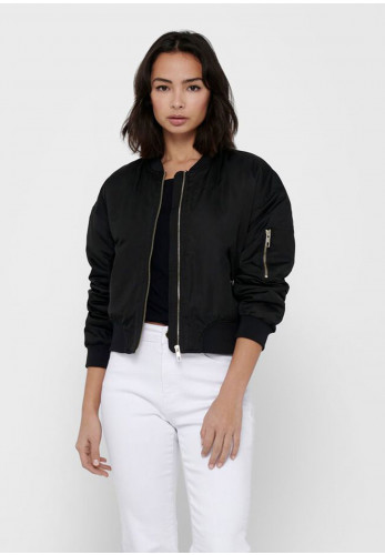 Only Patty Spring Bomber Jacket, Black