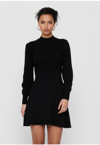 Only Yara Long Sleeve Knit Dress, Black