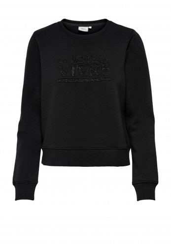 Only Annie Life Beaded Detail Sweater, Black