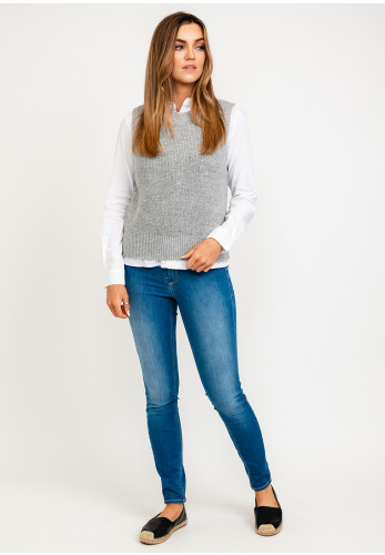 Only Paris Knitted Vest, Light Grey