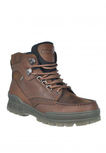 Ecco Mens Leather Lace Up Boot, Bison Brown
