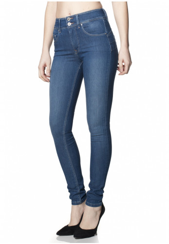 Salsa Secret Skinny Push In Jeans, Blue Denim