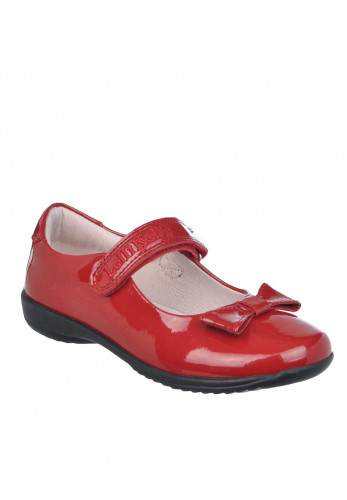 Lelli Kelly Girls Perri Leather Patent Velcro Strap Toe Shoes, Red