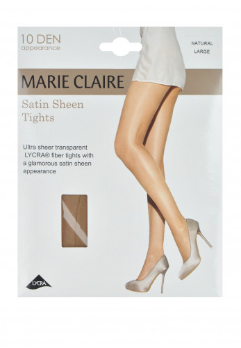 Marie Claire 10 Denier Satin Sheen Tights, Natural