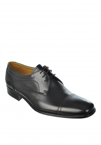 Barker Nick Leather Lace-Up Shoe, Black Calf