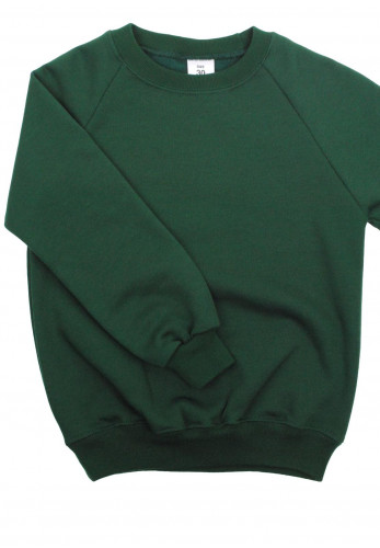 Plain Knit School Jumper, Green