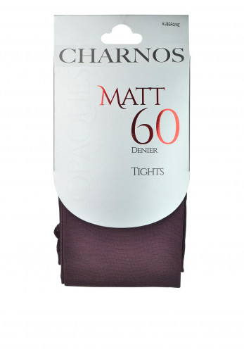 Charnos Opaques Matt 60 Denier Tights, Aubergine