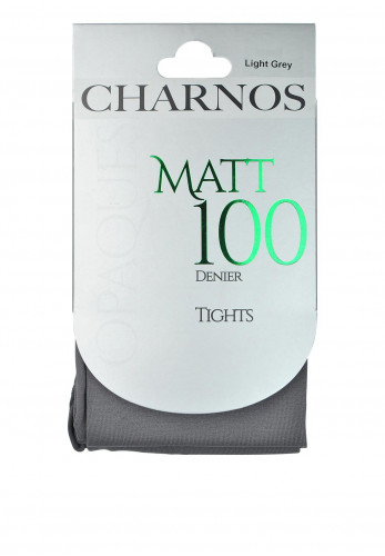 Charnos Opaques Matt 100 Denier Tights, Light Grey